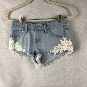 BDG Lace Denim Shorts